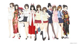 Rating: Safe Score: 43 Tags: business_suit chinadress daimonji_emi daimonji_saki daimonji_yuu happoubi_jin heels hiroishi_rin honma_natsume iseshima_aya jpeg_artifacts kakizaki_rei kazuki_miko kimono maid miko nurse pantyhose police_uniform ryuu_getsurei seifuku suma_azusa thighhighs uniform zettai_shougeki_platonic_heart User: rodri1711