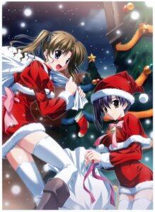 Rating: Safe Score: 25 Tags: christmas ef_~a_fairytale_of_the_two~ hayama_mizuki nanao_naru shindou_kei thighhighs User: Radioactive
