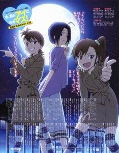 Rating: Safe Score: 16 Tags: futami_ami futami_mami miura_azusa parody takata_akira the_idolm@ster thighhighs User: Jigsy