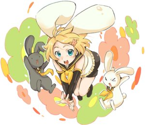 Rating: Safe Score: 9 Tags: animal_ears bunny_ears kagamine_rin sakou_mochi vocaloid User: Radioactive