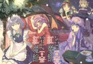 Rating: Safe Score: 36 Tags: color_gap flandre_scarlet hidari hong_meiling izayoi_sakuya patchouli_knowledge remilia_scarlet touhou User: fireattack