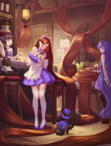 Rating: Safe Score: 39 Tags: animal_ears cleavage heels neko thighhighs tiger_205 waitress User: Mr_GT