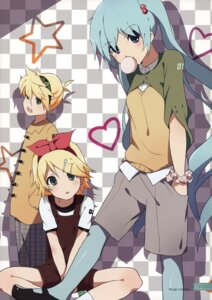 Rating: Safe Score: 12 Tags: hatsune_miku kagamine_len kagamine_rin milky_been! ogipote pantyhose vocaloid User: Hatsukoi