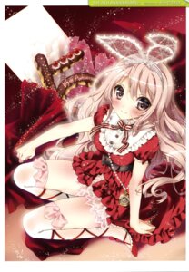 Rating: Questionable Score: 60 Tags: dress heels kamiya_maneki thighhighs User: fireattack