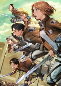 Rating: Safe Score: 19 Tags: auruo_bossard erd_gin eren_jaeger gunter_shulz levi petra_ral shingeki_no_kyojin sine sword User: blooregardo