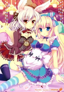 Rating: Safe Score: 84 Tags: alice alice_in_wonderland animal_ears bunny_ears cleavage hinata_momo thighhighs white_rabbit User: Twinsenzw