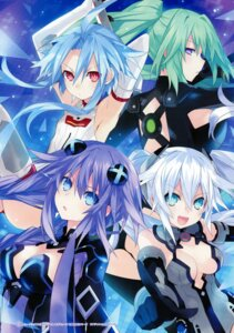 Rating: Questionable Score: 31 Tags: black_heart bodysuit choujigen_game_neptune cleavage green_heart kami_jigen_game_neptune_v purple_heart thighhighs tsunako white_heart User: Radioactive