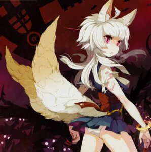 Rating: Questionable Score: 24 Tags: animal_ears kitsune pantsu tail taruk torn_clothes User: MirrorMagpie