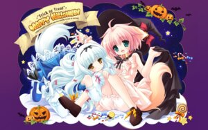 Rating: Safe Score: 21 Tags: animal_ears bloomers cuffs halloween lily_(w&l) ozawa_yuu wallpaper wanko wanko_to_lily User: androgyne