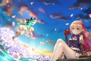 Rating: Safe Score: 32 Tags: arisa_(shadowverse) elf feet heels pointy_ears shadowverse skirt_lift wings yuririn_poi User: sym455