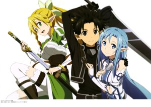Rating: Questionable Score: 30 Tags: alfheim_online asuna_(sword_art_online) kirito leafa nakamura_naoto pointy_ears sword sword_art_online thighhighs User: drop
