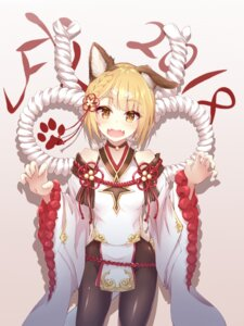 Rating: Safe Score: 34 Tags: animal_ears granblue_fantasy kekeji nopan pantyhose vajra_(granblue_fantasy) User: RyuZU