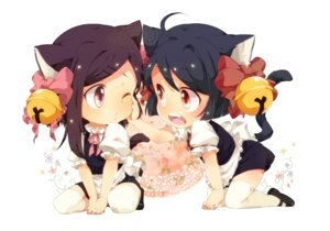Rating: Safe Score: 37 Tags: animal_ears chibi nekomimi tail u35 User: Hentar