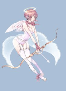 Rating: Questionable Score: 9 Tags: angel cleavage saki1230 stockings thighhighs wings User: Radioactive