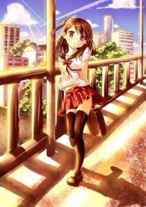 Rating: Safe Score: 46 Tags: clouble seifuku shizuku_(kantoku) thighhighs User: Injection