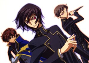 Rating: Safe Score: 6 Tags: code_geass kururugi_suzaku lelouch_lamperouge male rollo_lamperouge sakamoto_shuuji User: Aurelia