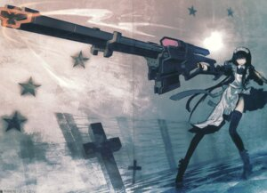 Rating: Safe Score: 24 Tags: black_rock_shooter crease gun huke maid maid_gunner thighhighs vocaloid User: Radioactive