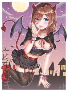 Rating: Safe Score: 27 Tags: 5-toubun_no_hanayome halloween heels horns nakano_miku no_bra stockings syatihoko tail thighhighs wings User: Mr_GT