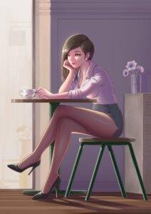 Rating: Safe Score: 36 Tags: cleavage gi_gi heels open_shirt pantyhose User: saemonnokami