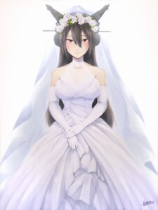 Rating: Safe Score: 20 Tags: dress ikeshita_moyuko kantai_collection nagato_(kancolle) wedding_dress User: Mr_GT