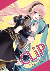 Rating: Safe Score: 20 Tags: hatsune_miku hijiki megurine_luka vocaloid User: fireattack