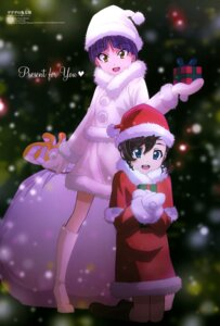 Rating: Safe Score: 16 Tags: christmas dress gegege_no_kitaro heels inuyama_mana neko_musume shimizu_sorato User: drop