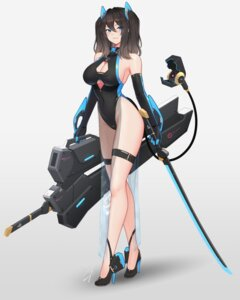 Rating: Safe Score: 31 Tags: cleavage hayabusa heels leotard see_through sword tail User: Mr_GT