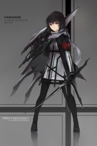 Rating: Questionable Score: 27 Tags: dress pantyhose pixiv_fantasia pixiv_fantasia_t swd3e2 sword weapon User: sylver650