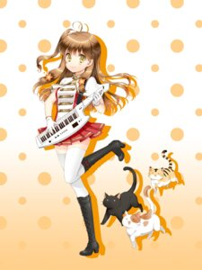 Rating: Safe Score: 26 Tags: cuteg heels hinabita neko thighhighs yamagata_marika User: lee1238234