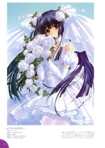 Rating: Safe Score: 20 Tags: carnelian dress kuraki_suzuna moonlight_lady orbit thighhighs wedding_dress User: WtfCakes