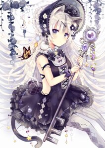 Rating: Safe Score: 66 Tags: animal_ears dress gothic_lolita lolita_fashion nekomimi pantyhose sakura_oriko tail User: Mr_GT