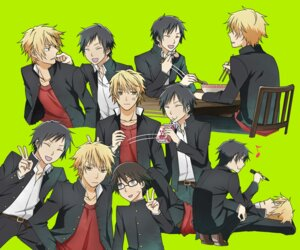 Rating: Safe Score: 5 Tags: durarara!! heiwajima_shizuo kishitani_shinra male orihara_izaya seifuku User: Radioactive