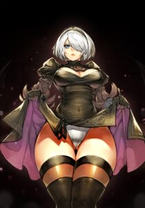 Rating: Questionable Score: 28 Tags: cleavage dress gurimjang leotard nier_automata skirt_lift thighhighs yorha_no.2_type_b User: Mr_GT