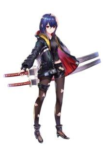Rating: Safe Score: 30 Tags: cup6542 heels pantyhose sword torn_clothes User: saemonnokami