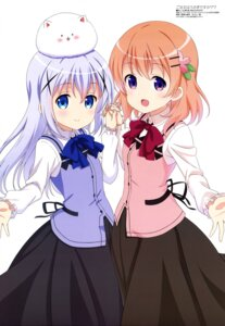 Rating: Questionable Score: 67 Tags: gochuumon_wa_usagi_desu_ka? hoto_cocoa kafuu_chino sakano_hikari tippy_(gochuumon_wa_usagi_desu_ka?) uniform waitress User: drop