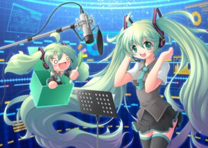 Rating: Safe Score: 16 Tags: chibi hatsune_miku kang_seung-uk thighhighs vocaloid User: MK-Scorpion