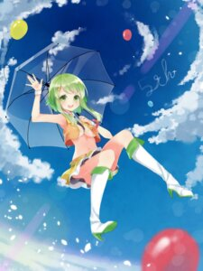 Rating: Questionable Score: 36 Tags: gumi heels no_bra open_shirt tika_(twilight_drop) umbrella underboob vocaloid User: Mr_GT