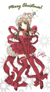 Rating: Safe Score: 27 Tags: christmas cuteg dress thighhighs User: Syko83