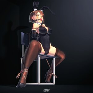 Rating: Questionable Score: 48 Tags: animal_ears bondage bunny_ears bunny_girl cameltoe fishnets heels hidden thighhighs User: Mr_GT