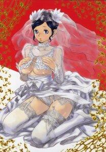 Rating: Questionable Score: 18 Tags: dress pantsu stockings thighhighs underboob wedding_dress yasuda_akira User: cheese