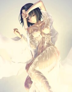 Rating: Safe Score: 17 Tags: dress kara_no_kyoukai kawanakajima no_bra nopan open_shirt ryougi_shiki see_through sword wet wet_clothes User: BattlequeenYume