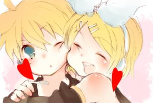 Rating: Safe Score: 2 Tags: dango_(airdanngo) kagamine_len kagamine_rin vocaloid User: charunetra