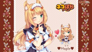 Rating: Safe Score: 50 Tags: animal_ears chibi maid maple_(neko_para) neko_para neko_works nekomimi sayori tail wallpaper User: ted423