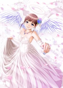 Rating: Safe Score: 15 Tags: angel cleavage dress wedding_dress wings yume_robo User: charunetra