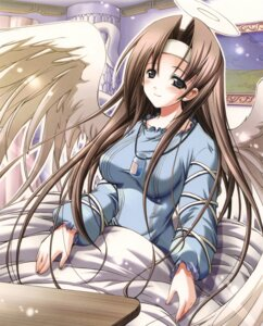 Rating: Safe Score: 14 Tags: angel jpeg_artifacts misakura_nankotsu wings User: Radioactive