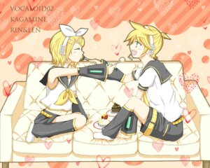Rating: Safe Score: 5 Tags: kagamine_len kagamine_rin rogie vocaloid wallpaper User: himawariYamato