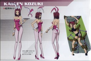 Rating: Safe Score: 33 Tags: animal_ears bunny_ears bunny_girl character_design code_geass kallen_stadtfeld kimura_takahiro pantyhose screening User: majoria