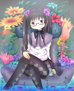 Rating: Safe Score: 10 Tags: akemi_homura megane pantyhose puella_magi_madoka_magica seleb629 User: SubaruSumeragi