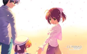 Rating: Safe Score: 44 Tags: clannad clannad_after_story furukawa_nagisa okazaki_tomoya okazaki_ushio tam-u User: ynca12i