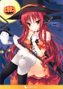 Rating: Questionable Score: 83 Tags: any dracu-riot! dress halloween thighhighs trueblue witch yarai_miu User: fireattack
